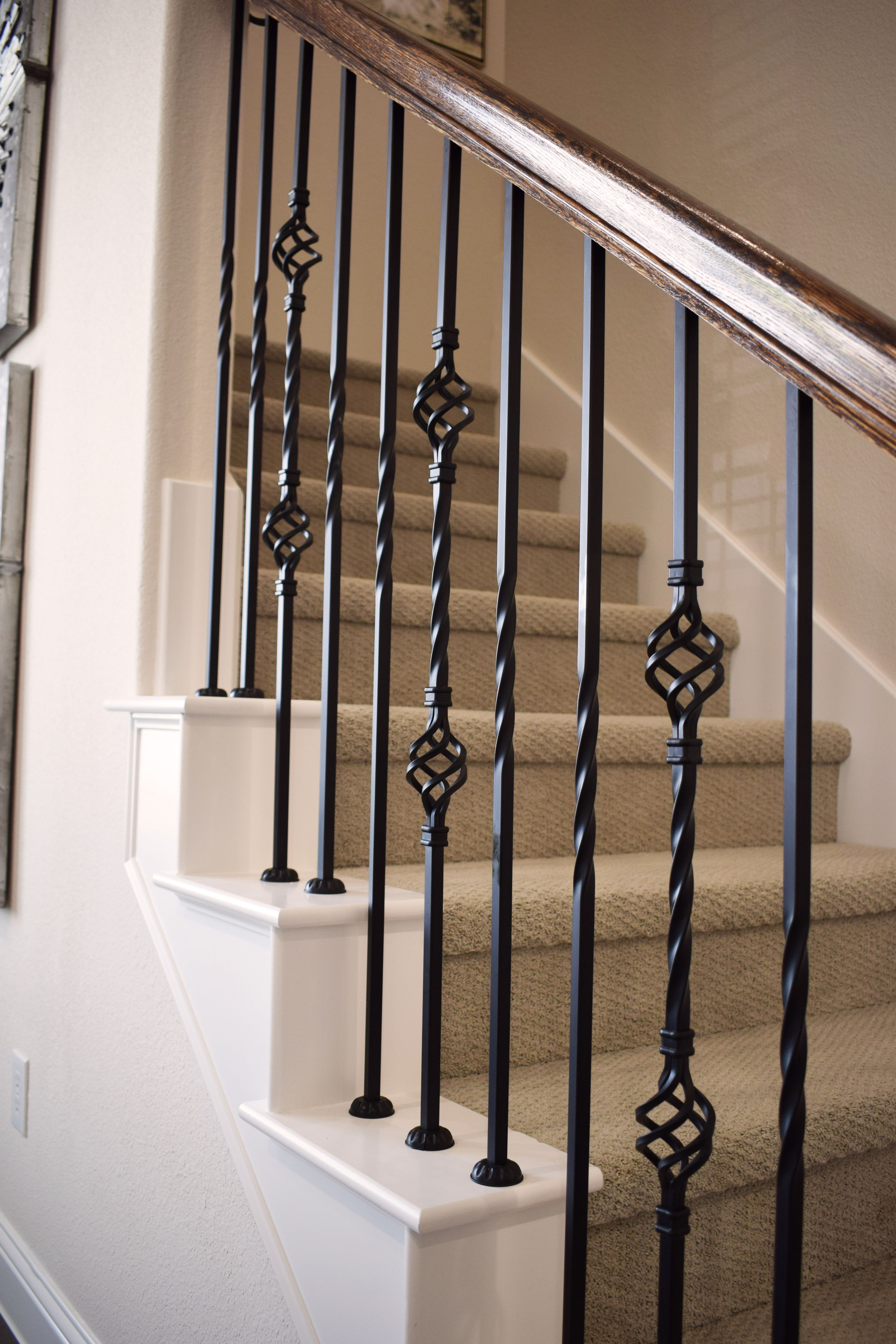 Classic And Elegant Are The Words I Would Use To Describe This Gorgeous Staircase Iron Staircase Railing Wrought Iron Stairs Iron Stair Balusters
