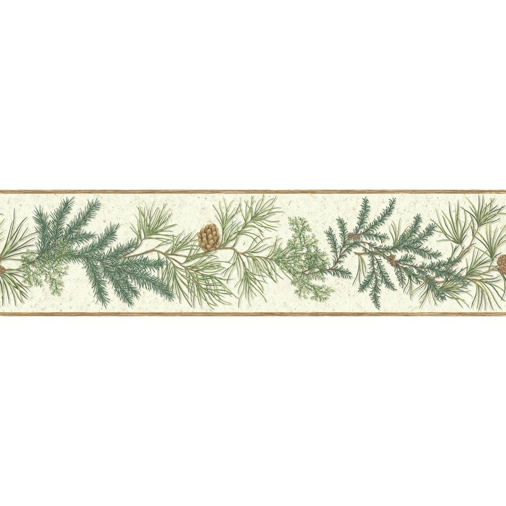 York Wallcoverings Border Portfolio II Conifer Border