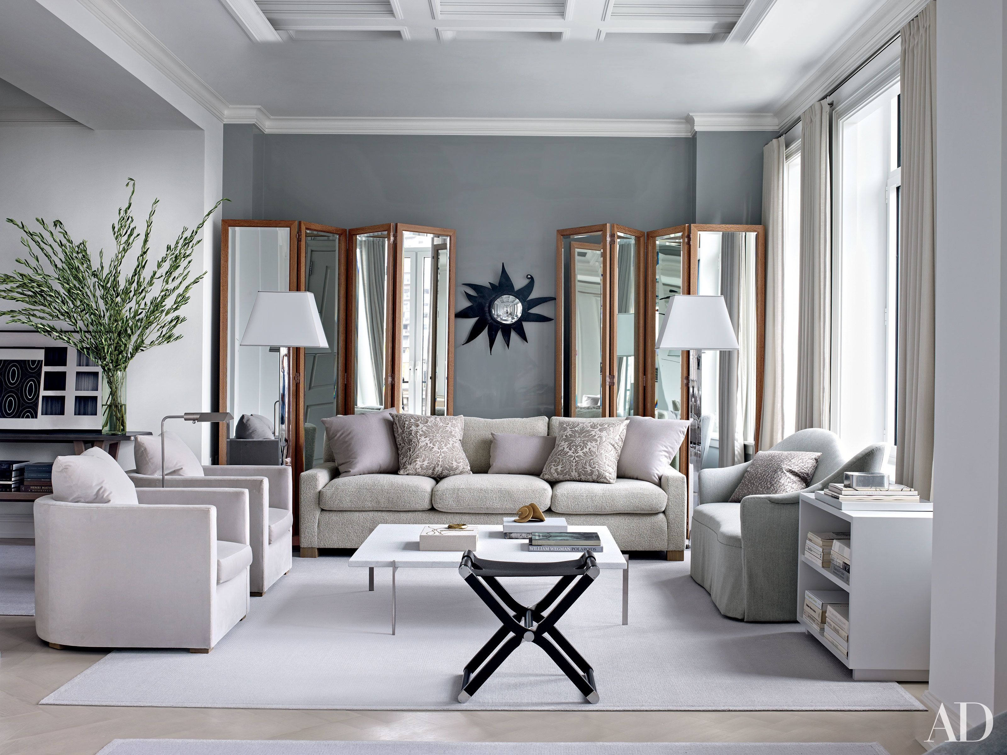 41 Exquisite Gray Rooms From The Ad Archives