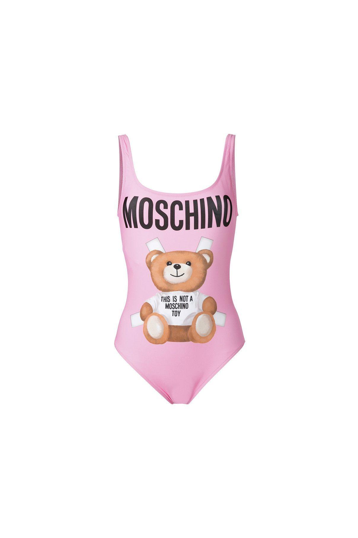 ae469befbb9b0 {Moschino Swim / 01 clothing / 08 swimwear / 01 one-piece} Teddy Bear Logo  One Piece Swimsuit