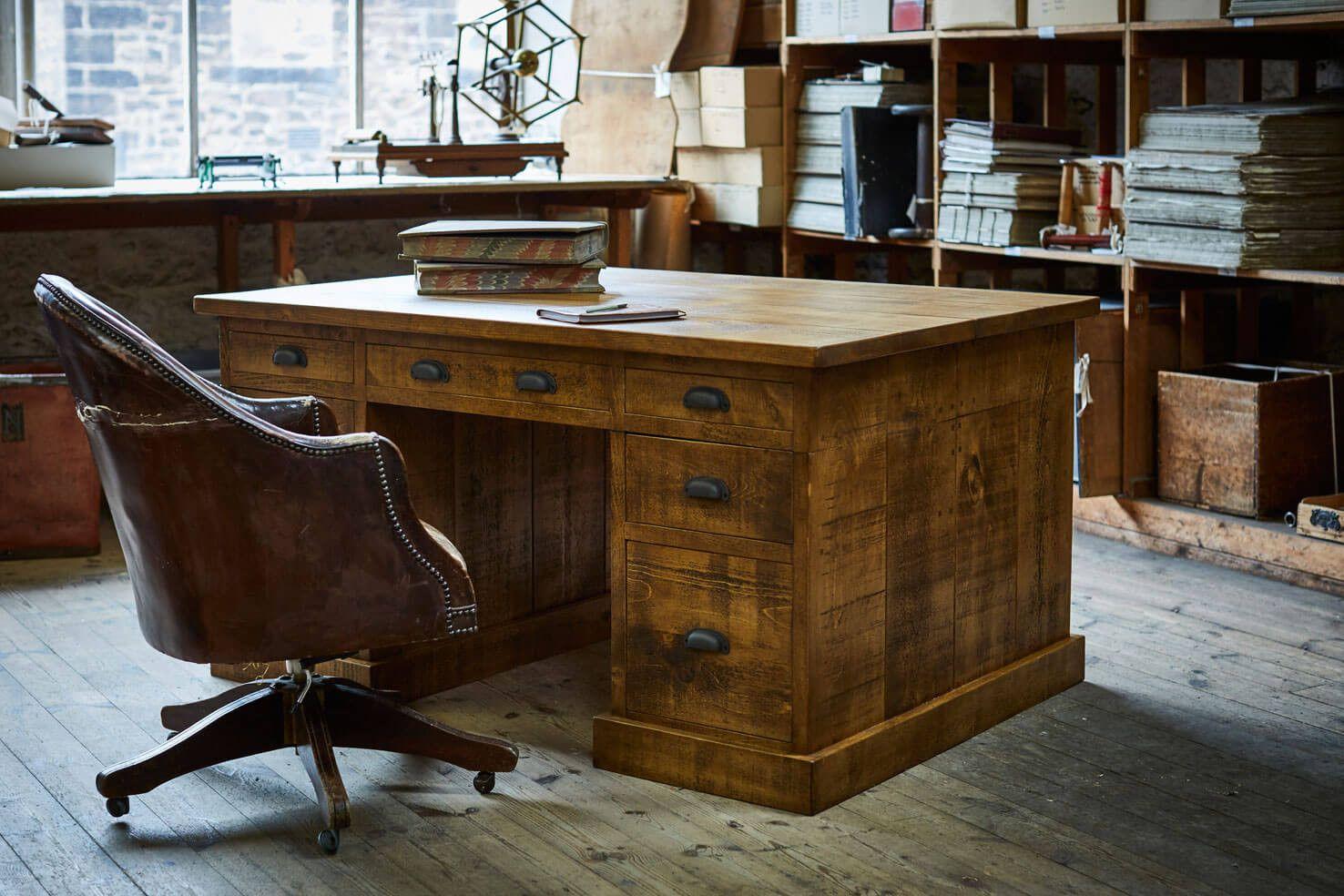The Grand Partner's Plank Desk Classic wood desk, Solid