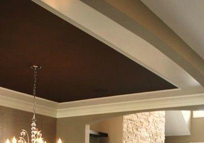 Tray Ceiling Painted Dark Brown Brown Ceiling Paint