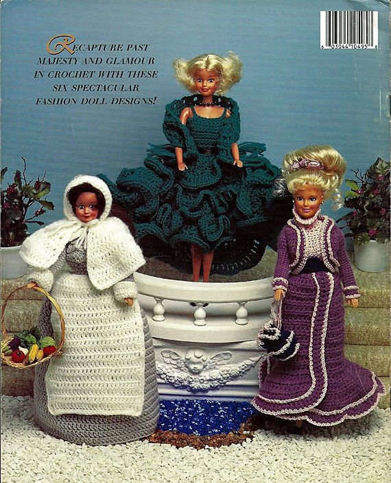Timeless Fashion Doll Wardrobe Volume I - fits Barbie - Crochet Pattern Book 495.  back cover