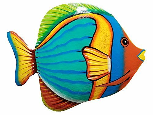 Hand Chiseled And Painted Tropical Metal Art Wall Decor F Https Www Amazon Com Dp B06y3try6h Ref Cm Sw R Pi Dp X Zoab Fish Art Fish Drawings Fish Painting
