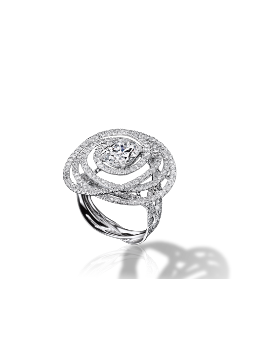 55dba68e30ef CHANEL - 1932 collection - Ring in 18K white Gold and Diamonds ...