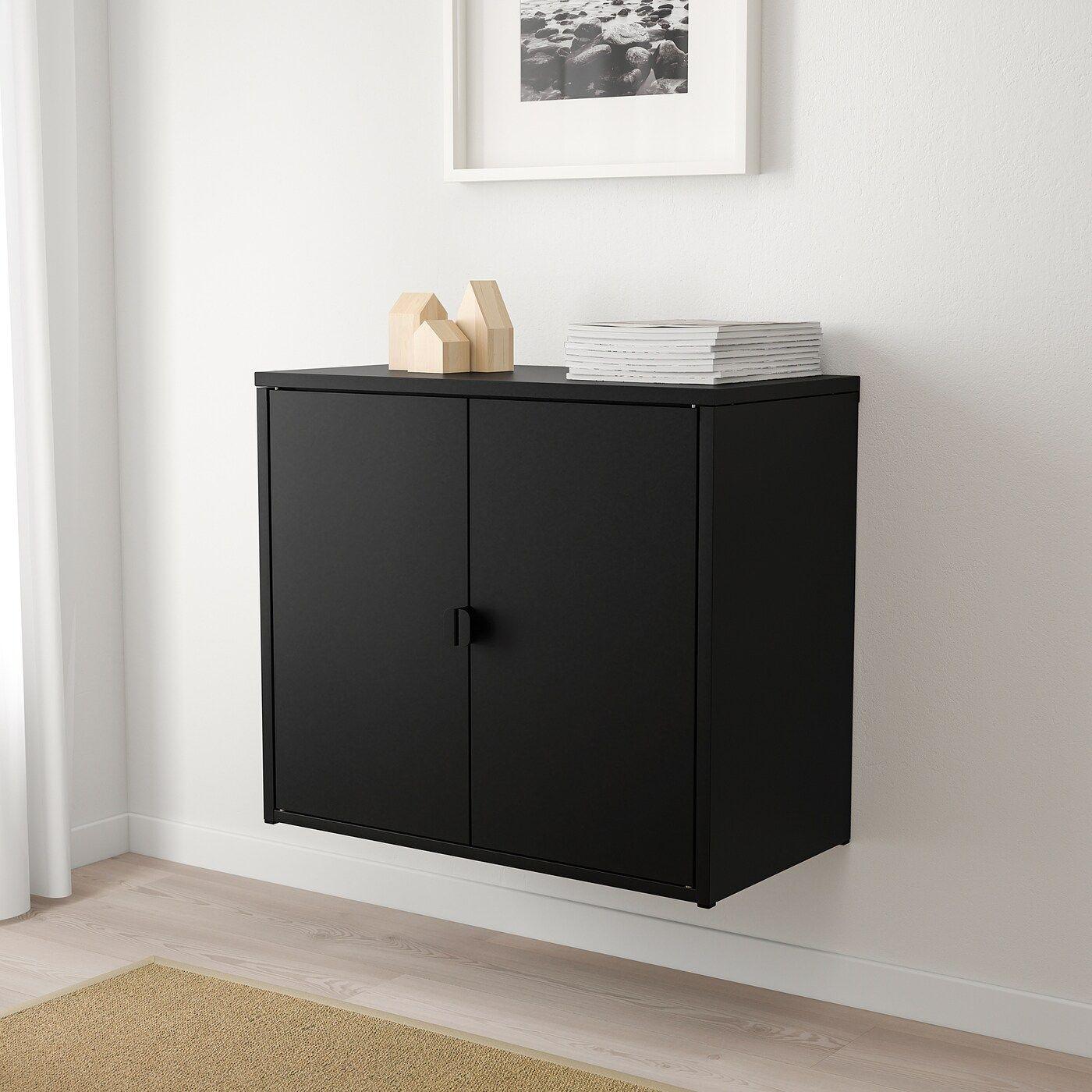 IKEA – BROR Armoire 2 portes Noir