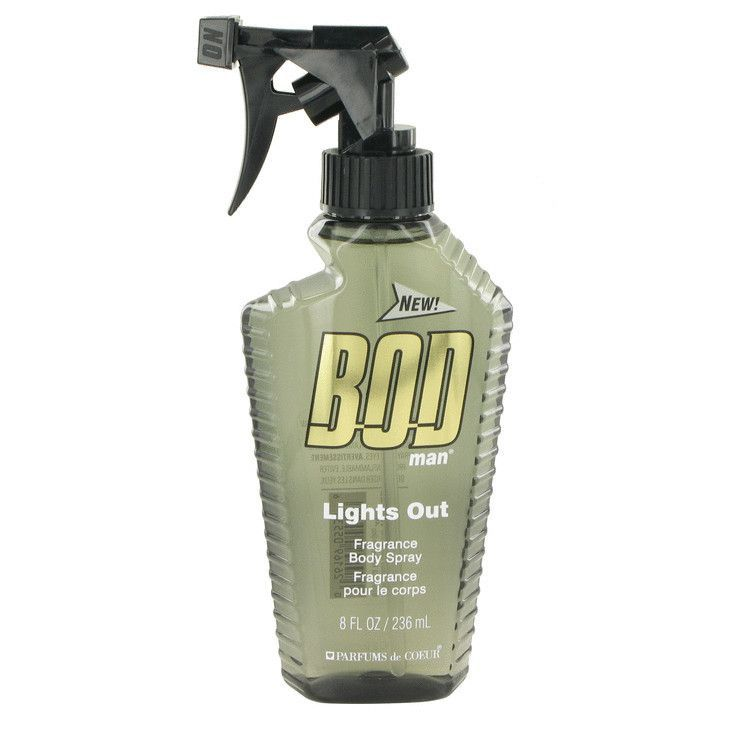 Bod Man Lights Out Cologne By Parfums De Coeur Body Spray 8 Oz (240 Ml) For Men