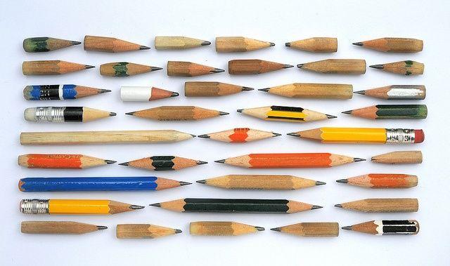 Pencil parade. / 연필이 쓰는 것으로 인한 수고스러움조차도 '멋' - 상품가치 - 이 되는 시대.