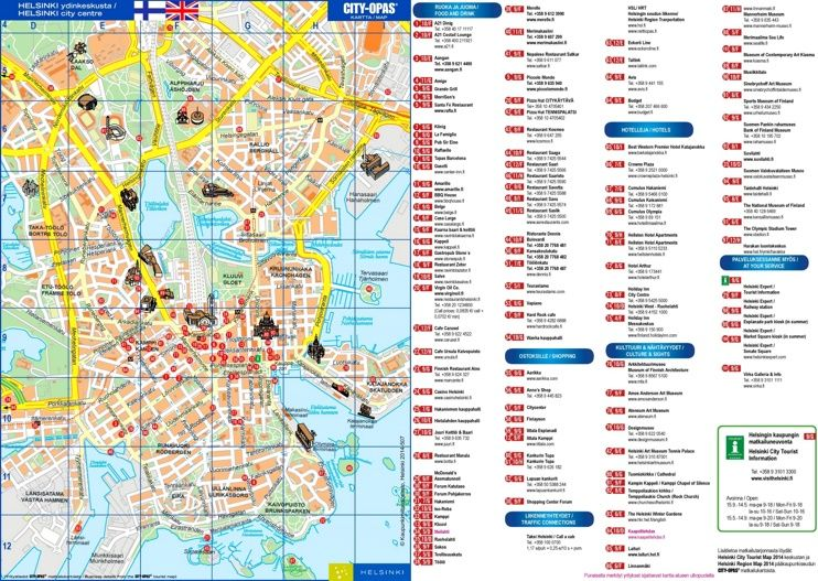Helsinki Tourist Map Tourist Map Tourist Map