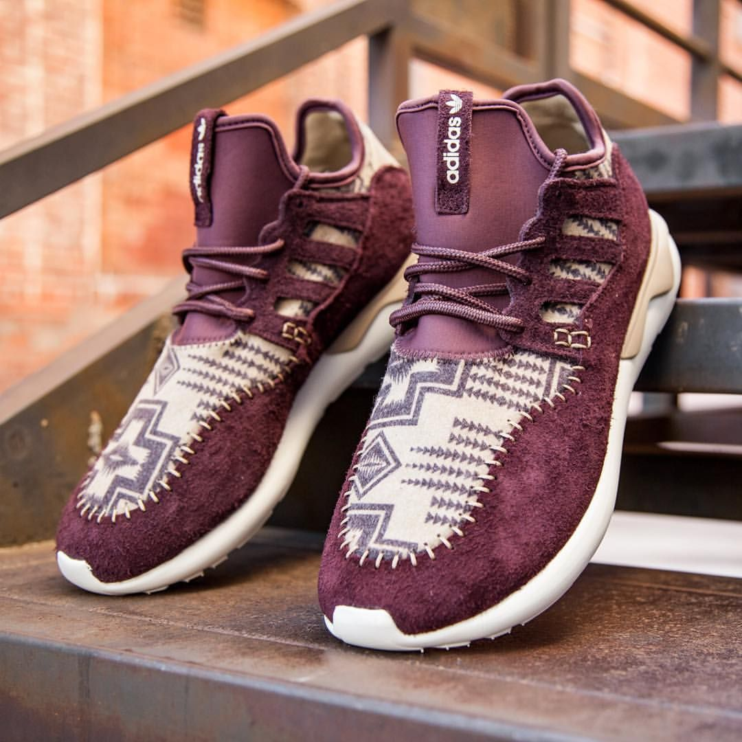 "BAIT Inc. on Instagram: ""Adidas Men's Tubular Moc Runner in burgundy, night"