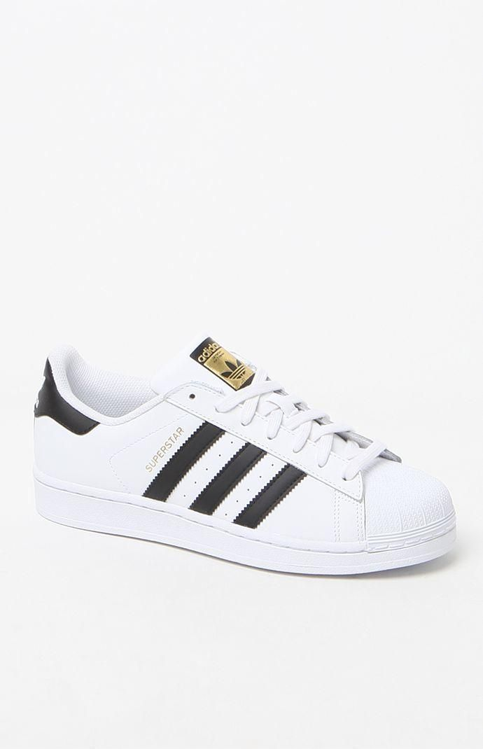 adidas superstar black white junior