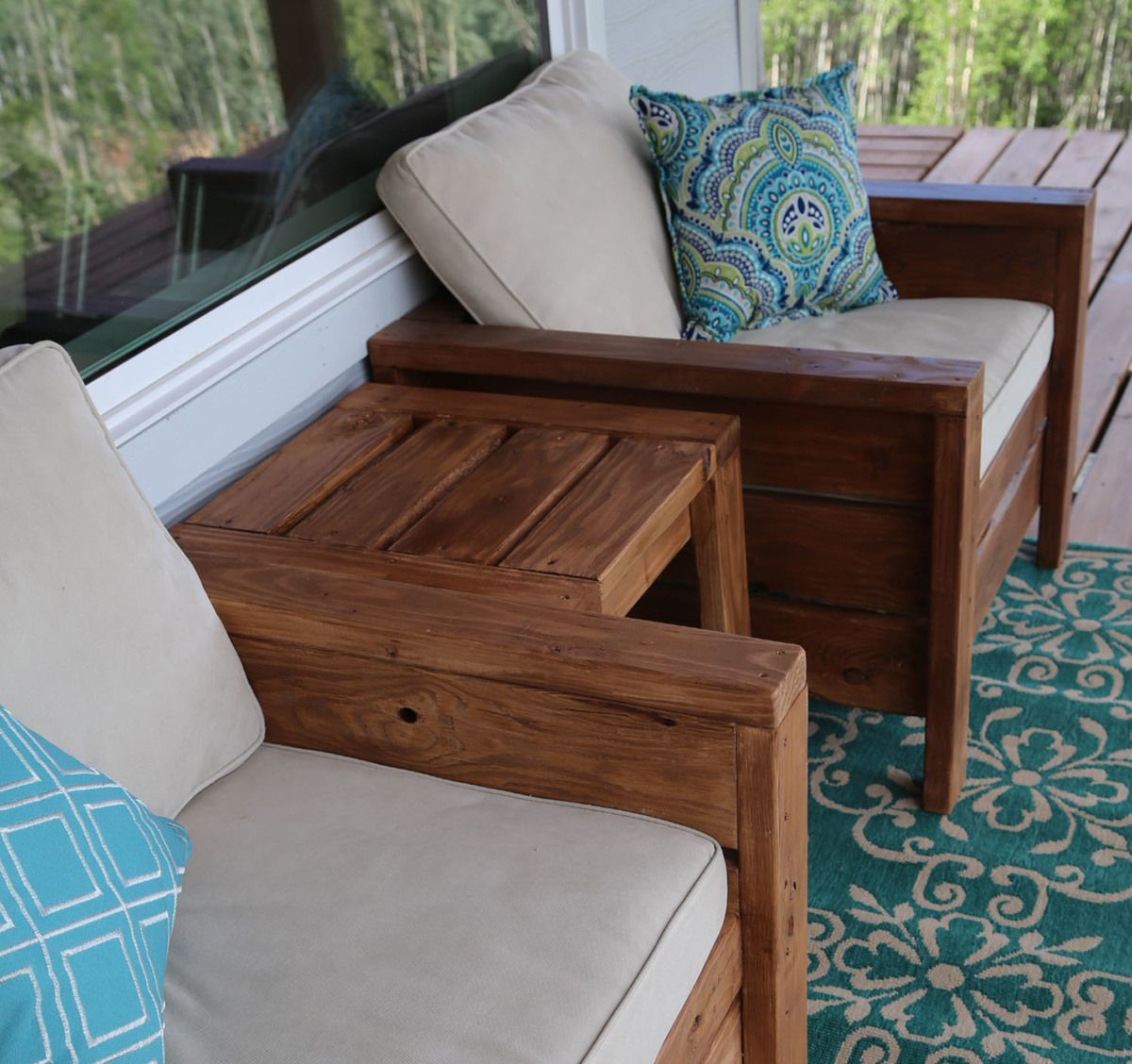 Modern Outdoor Chair from 2x4s and 2x6s Wood patio