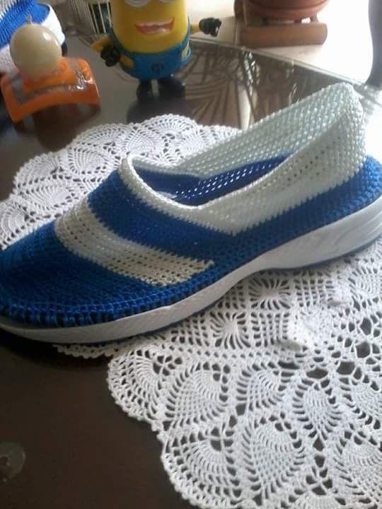 Pin de Dorys Bermudez en Zapatos | Pinterest | Zapatos tejidos ...