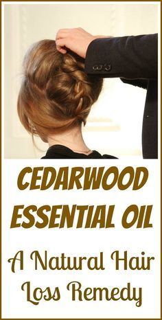 How cedarwood essential oil can potentially stop hair loss and even help with regrowth for balding or thinning hair.