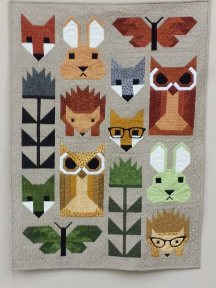 Animal Quilting Patterns : animal, quilting, patterns, Fancy, Forest, Quilt, Along, Quilt,, Animal, Quilts