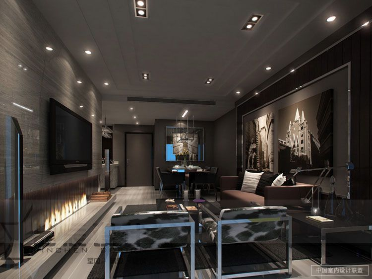 Sleek Modern Living Room Masculine Chrome : Stunning Modern Living ...
