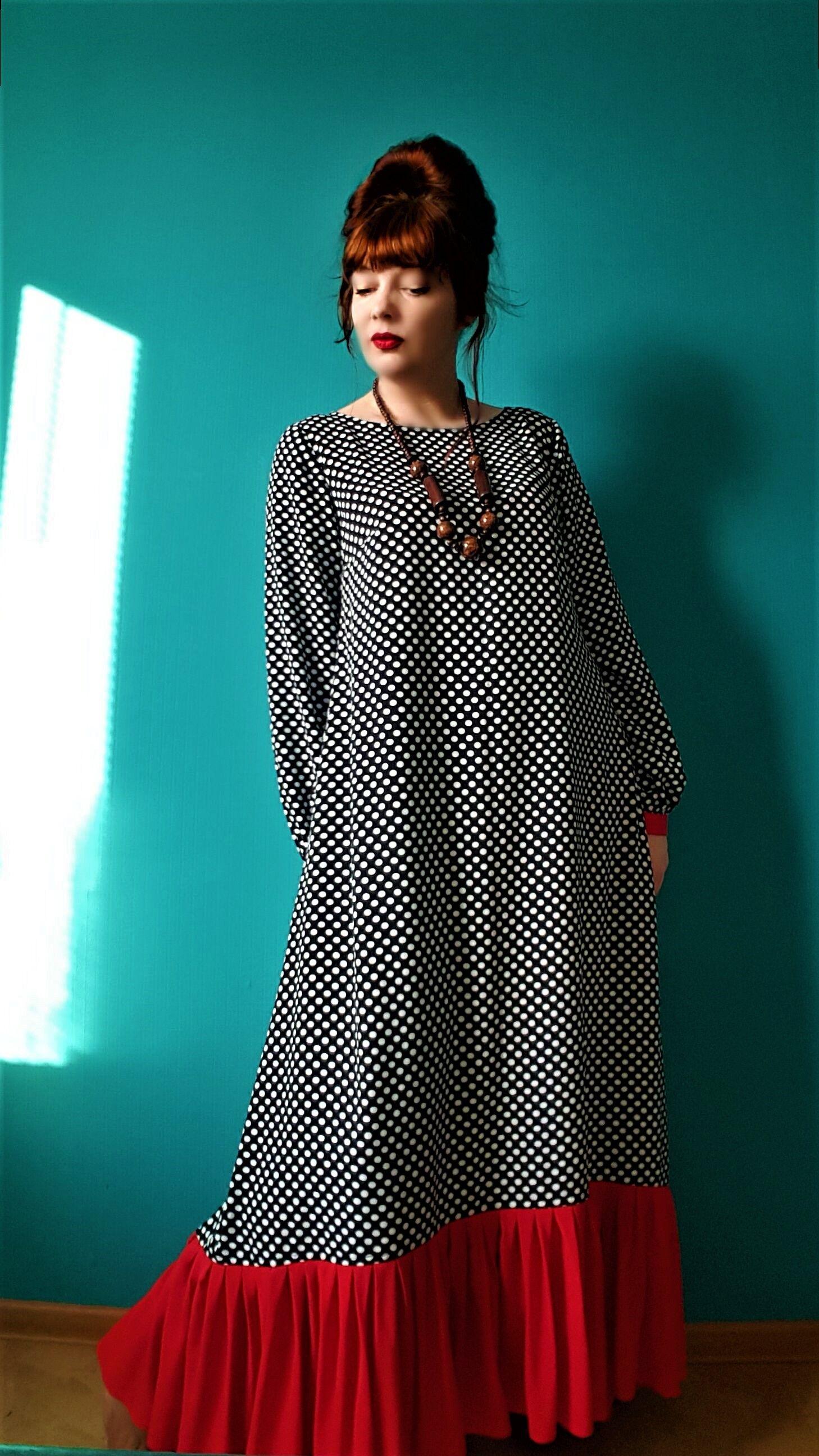 1361839ff20 Модное платье в горох