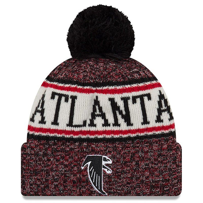 2b4ecc461be Atlanta Falcons New Era 2018 NFL Sideline Cold Weather Official Historic  Sport Knit Hat – Red