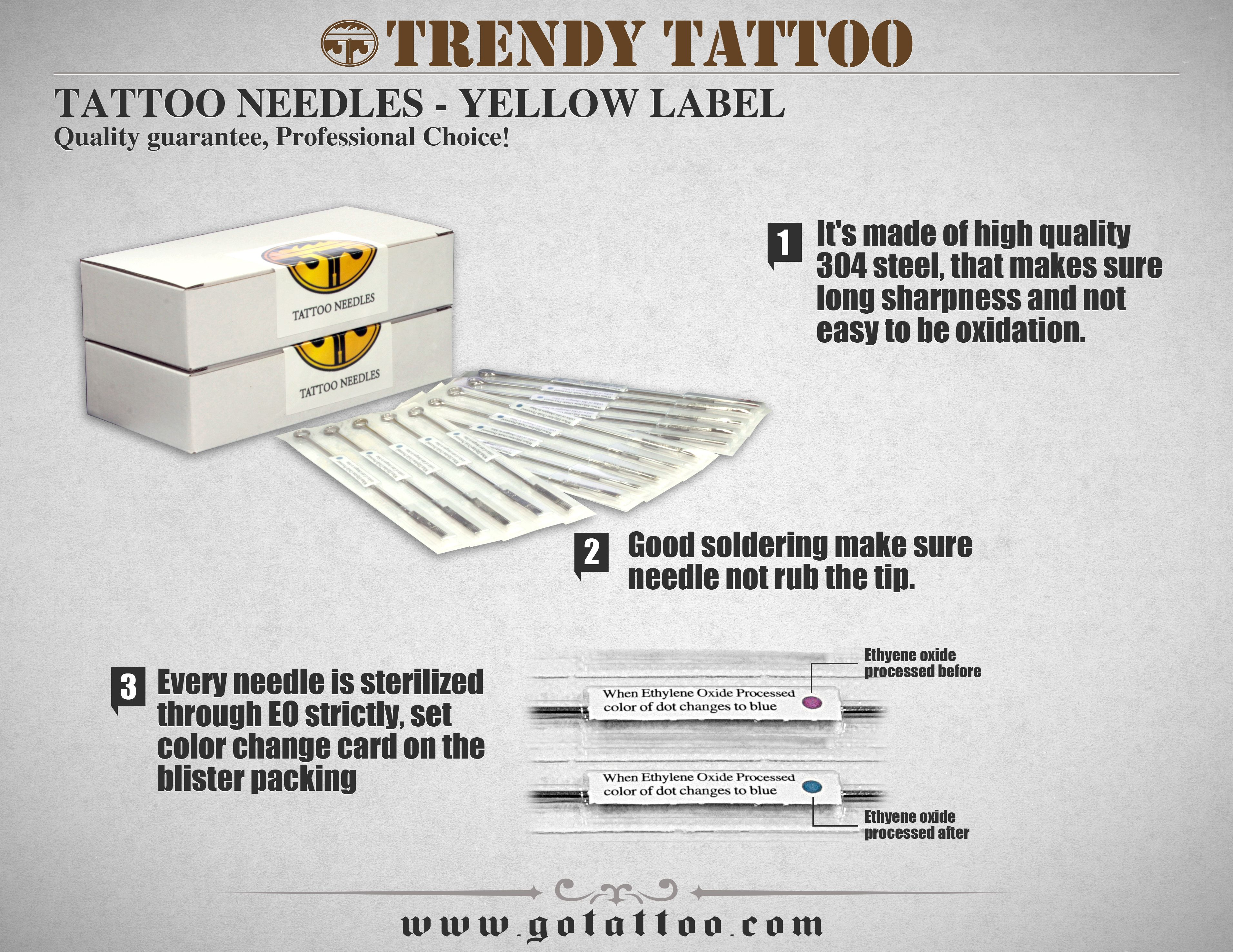 www.gotattoo.com 1 tightly round ground needles for liner. China ...
