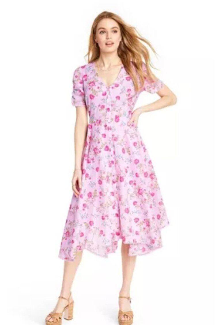 Let S Go Shopping Love Shack Fancy X Target Collaboration Christie Ferrari Handkerchief Hem Dress Dresses Womens Dresses [ 1125 x 750 Pixel ]