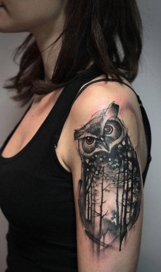 Owl Rose Dreamcatcher 7 Blue Owl Tattoos 6 Simple Colorful Owl Tattoos Tattoos Colorful Owl Tattoo Trendy Tattoos