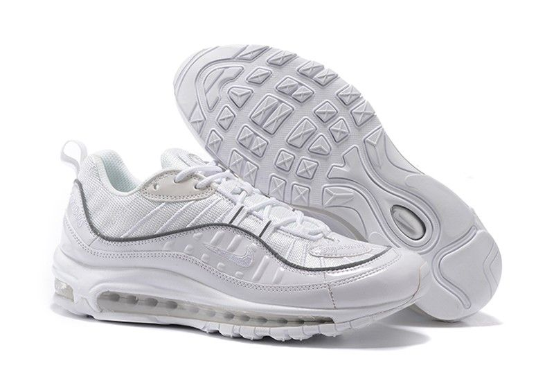 New Style Supreme x NikeLab Air Max 98 Silver White 844694-002 Cushioning  Running Shoes f48c5928a