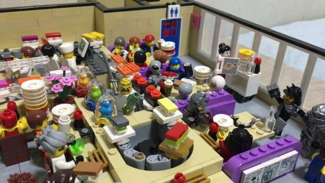ちゃんと回転しててすごい レゴで作った回転寿司屋さん レゴ レゴ