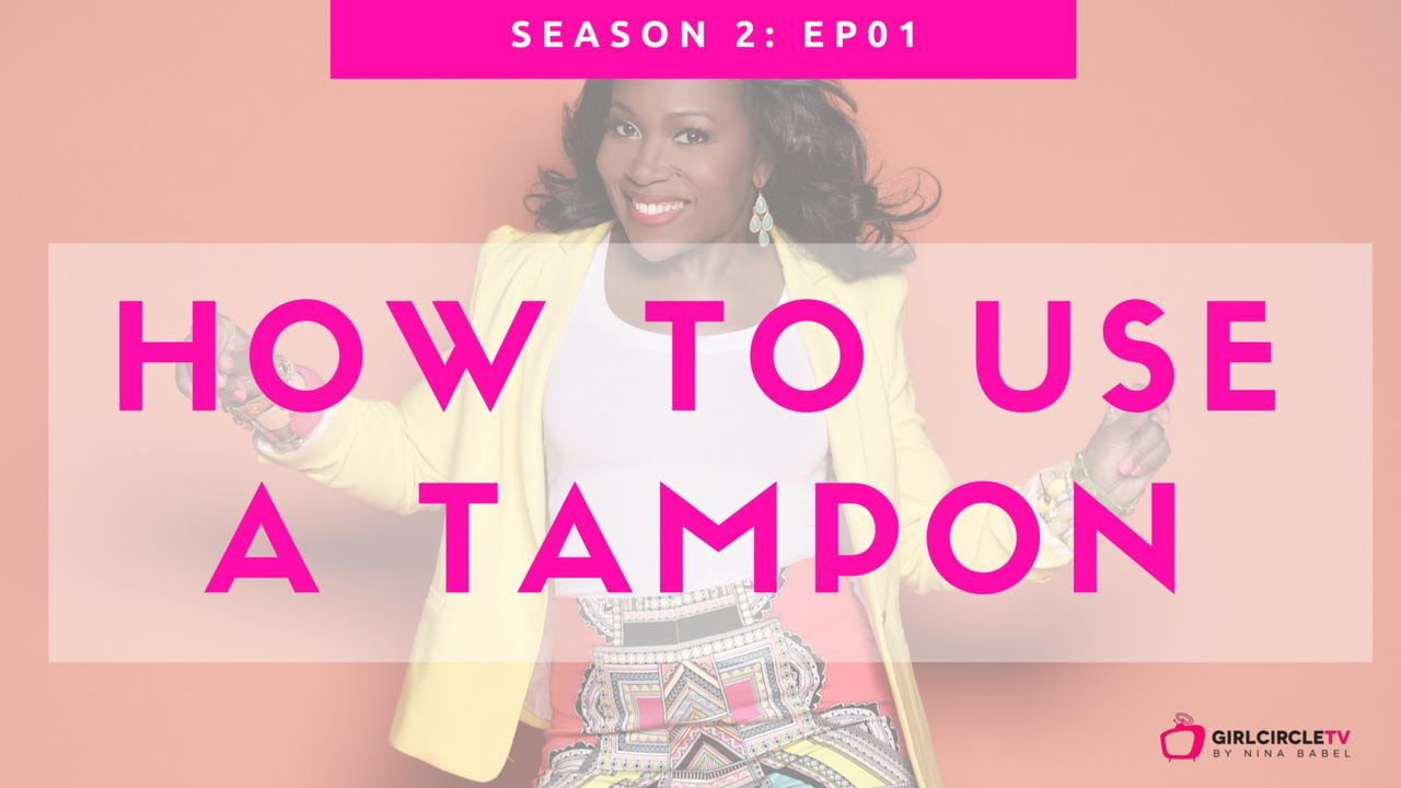 How to Use a Tampon Tampons, Tampon insertion, Being used