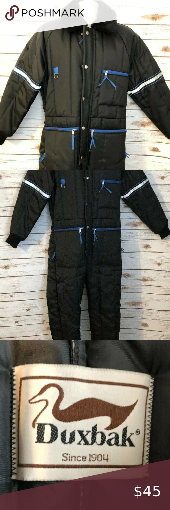 duxbak insulated coveralls style vintage snow suit in 2020 on insulated overalls id=98371
