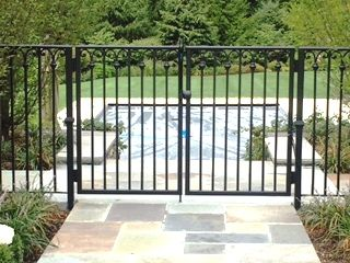 Decorative Wrought Iron Double Pool Gate Gates And Railings
