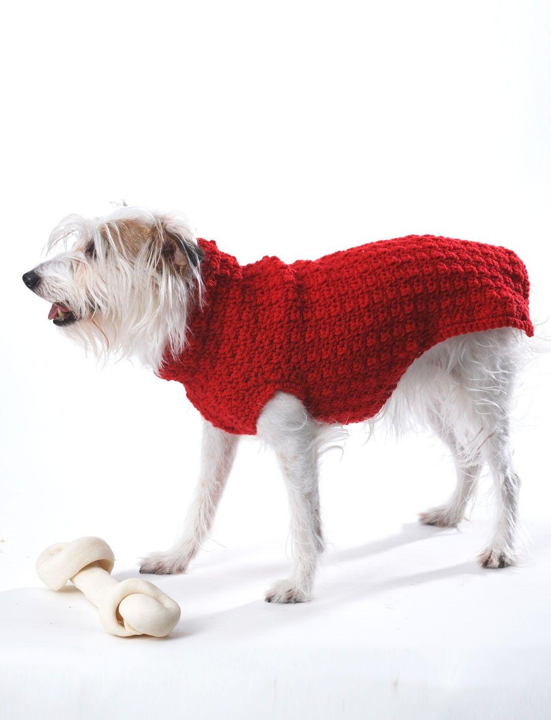 Yarnspirations.com - Bernat Crochet Dog Coat - Patterns ...