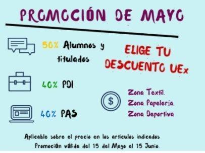 Nueva promoción de Mayo para la comunidad Universitaria .  #UEx