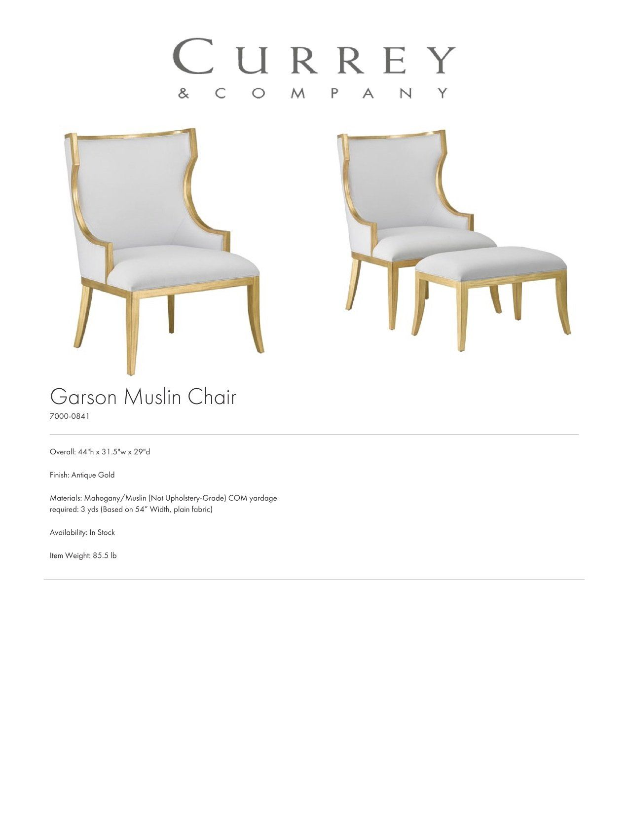 Garson Muslin Chair in 10  Chair, Design, Home decor