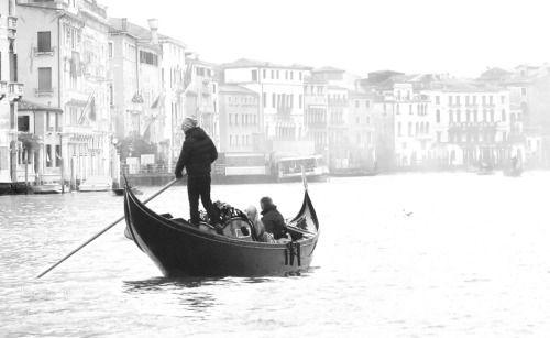 Waiting for the sun III by rrrrrrraph  mist city sea water boat river travel night light italy vacation architecture bridge venezia love bo