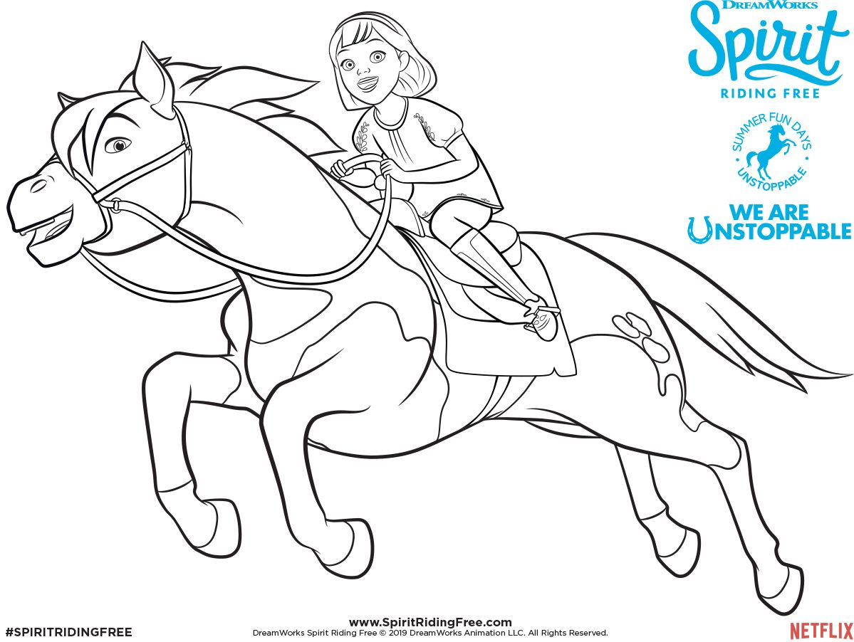Abigail Boomerang Coloring Page Spirit Riding Free Horse Coloring Pages Coloring Pages Coloring Books