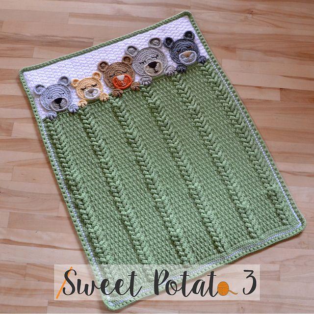 Sleep Tight Teddy Bear Blanket pattern by Sweet Potato 3 | adorable ...