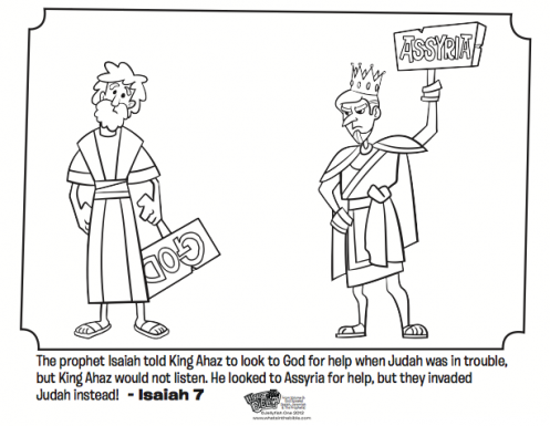Isaiah and ahaz bible coloring pages bible isaiah for Prophet isaiah coloring page