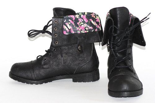 Twisted Womens Beige Synthetic Leather Shiny Glitter Military Combat Boot Motorcycle Biker Punk Flower Foldover Soft Light Brown Black Button Snap Reduced Price Under ... http://www.amazon.com/dp/B00IDG4ODM/ref=cm_sw_r_pi_dp_AqMMtb0PBMR244VV
