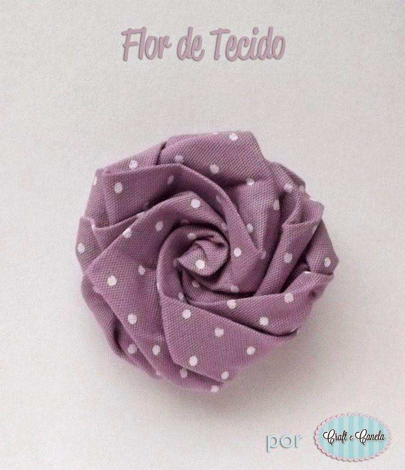 Compartilhando Passo A Passos Flor De Tecido Lindinha Flores