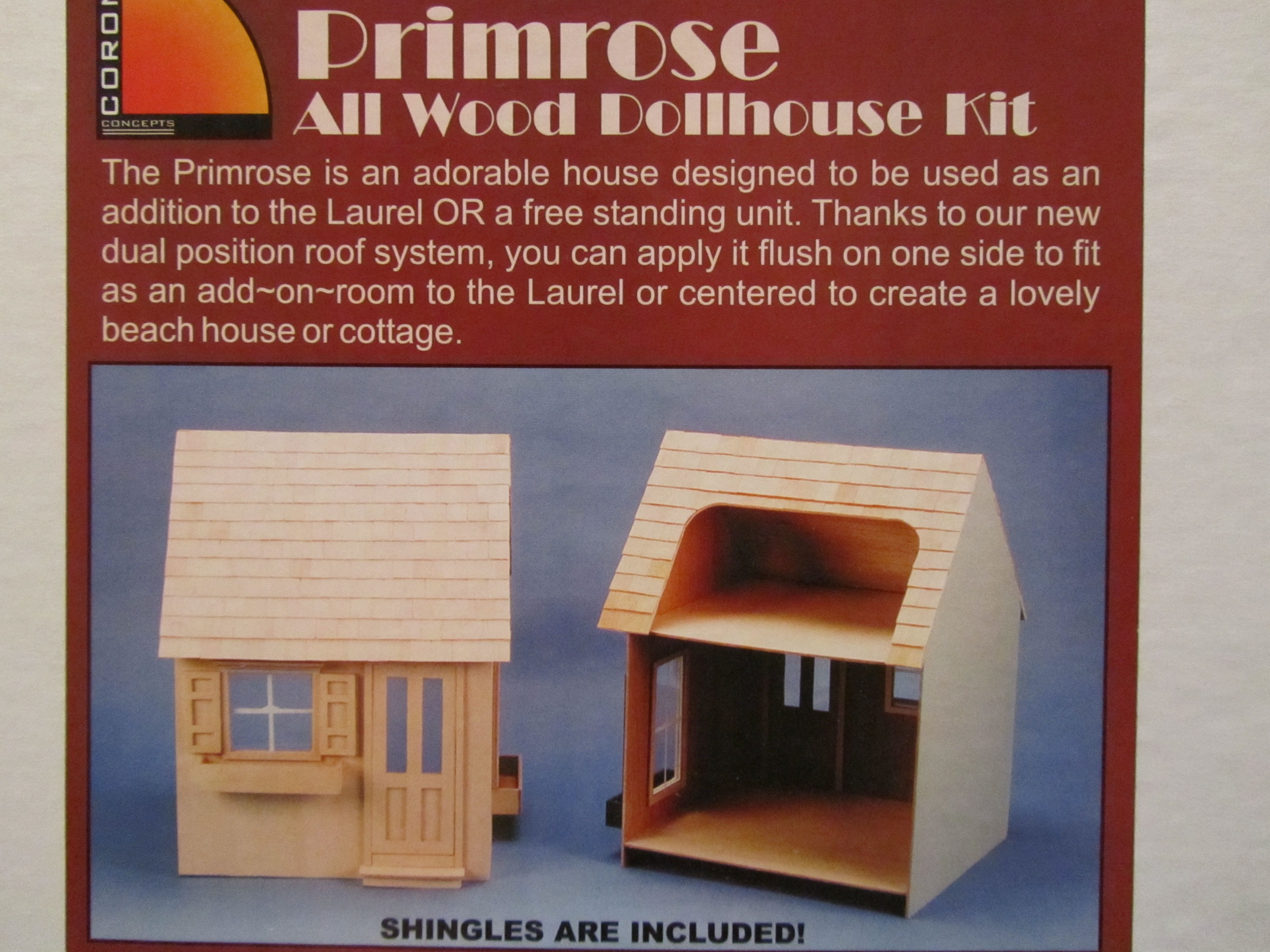 Greenleaf Corona Concepts The Primrose Dollhouse Kits House Design Roofing Systems