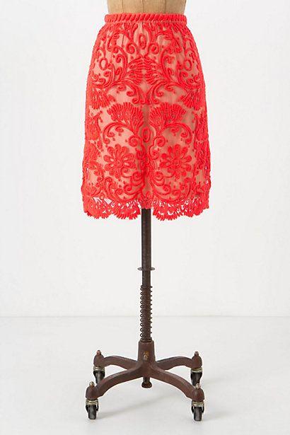 Sunblaze Lace Skirt #anthropologie  holy moly...bridesmaid skirt??