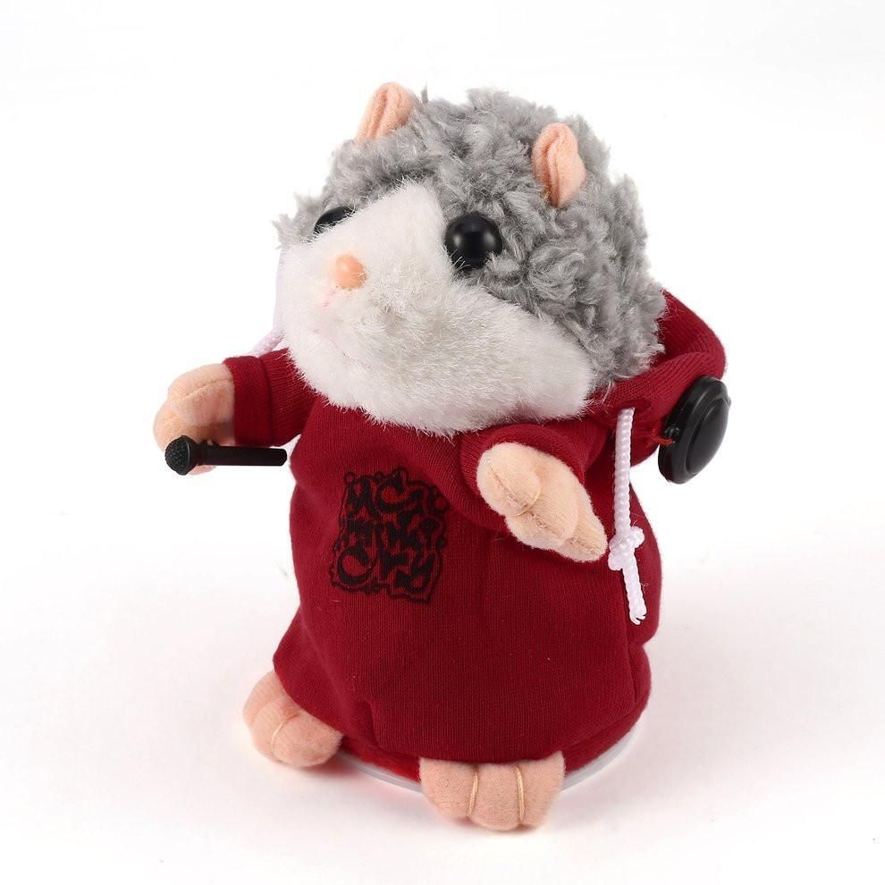 Lovely Cute Interactive Funny Talking Music Dj Hamster Plush Toy