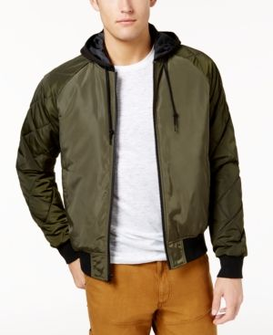 American Rag Men S Quilted Bomber Jacket Created For Macy S Green 2xl Products Bomber Jacket Hooded Bomber Jacket Jackets