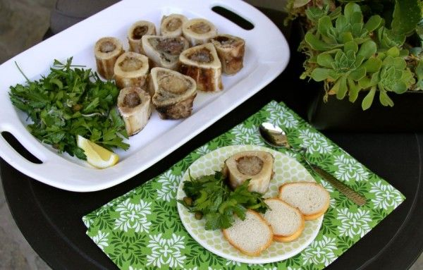 Roasted Bone Marrow and Parsley Salad - sounds NASTY but she makes it look good.