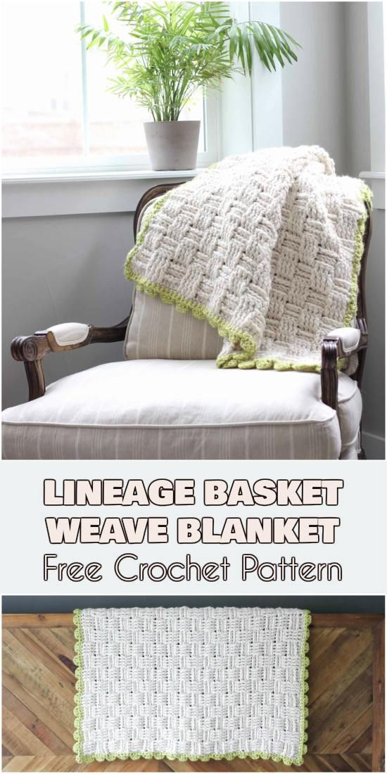 "Lineage"" Basket Weave Blanket – Free Crochet Pattern for Afghans ..."