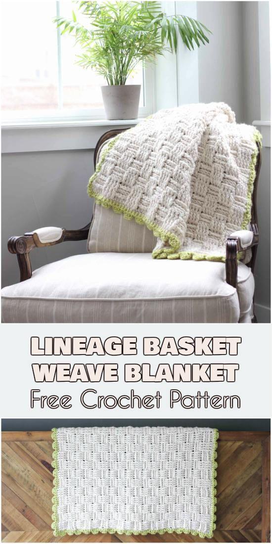 """Lineage"""" Basket Weave Blanket – Free Crochet Pattern   Crochet ..."""