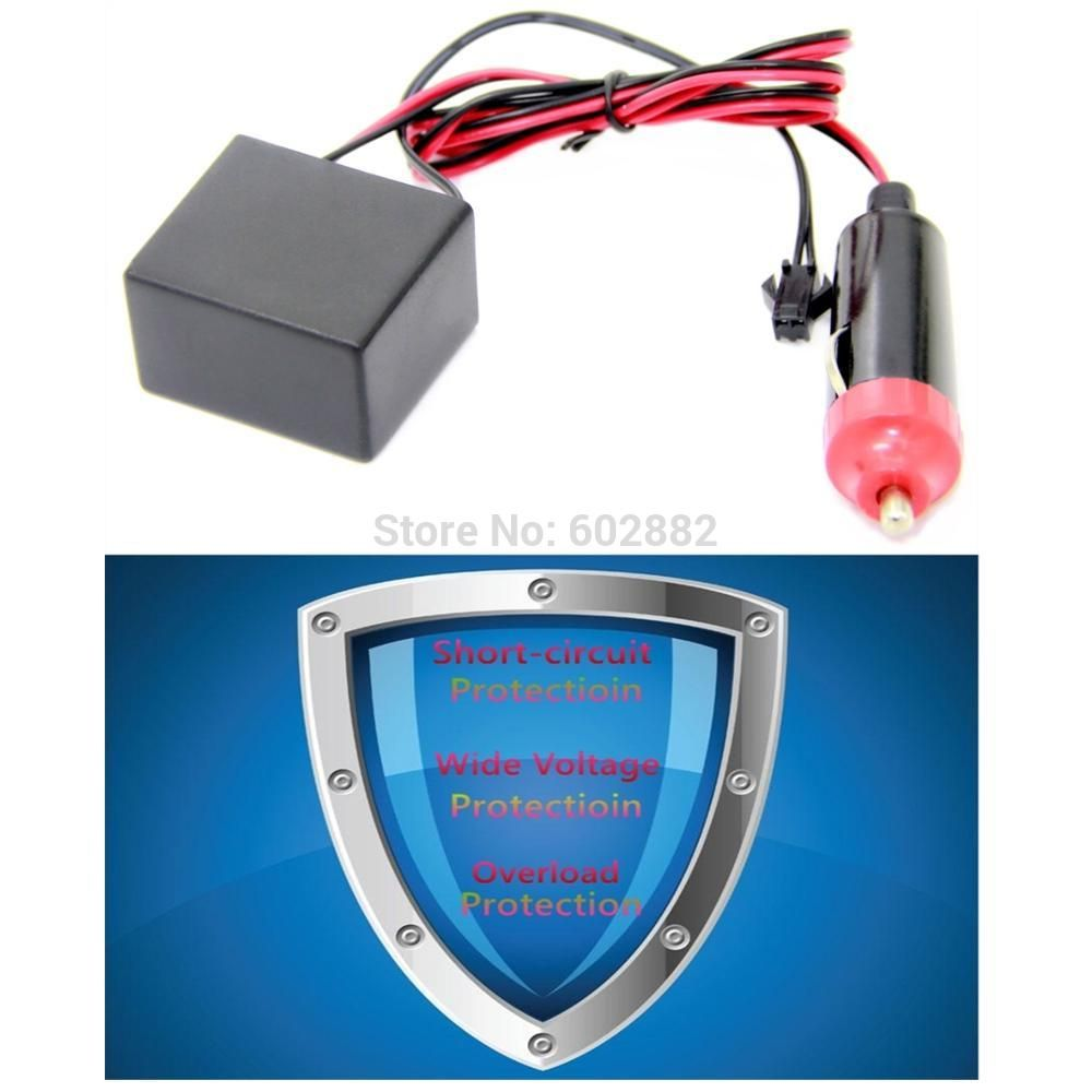 12v Cigarette Plug Inverter With Triple Protection For El Wire Wiring A Tape And Panel