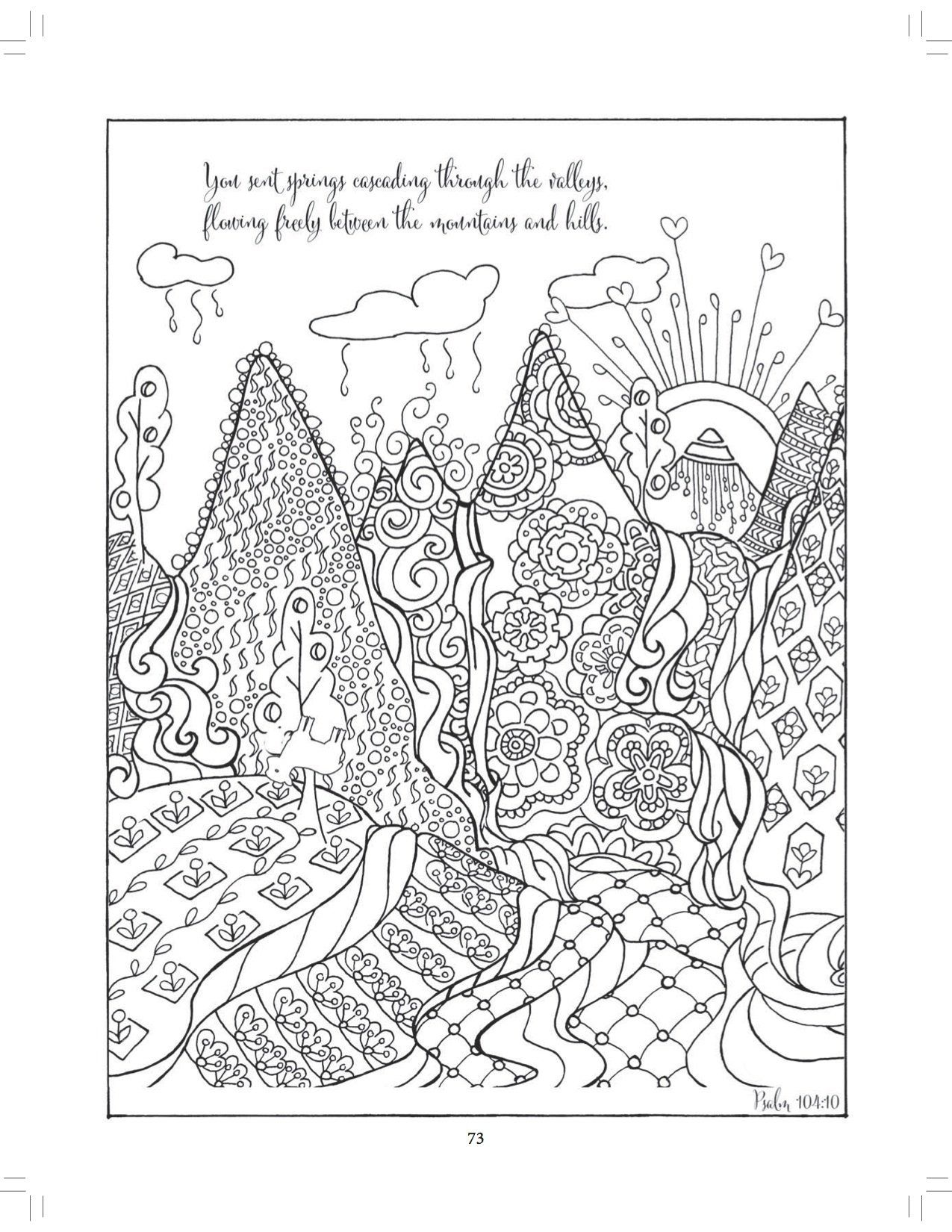 Coloring pages psalm 33 - Beside Still Waters Coloring The Psalms Adult Coloring Book Majestic Expressions 9781424551385