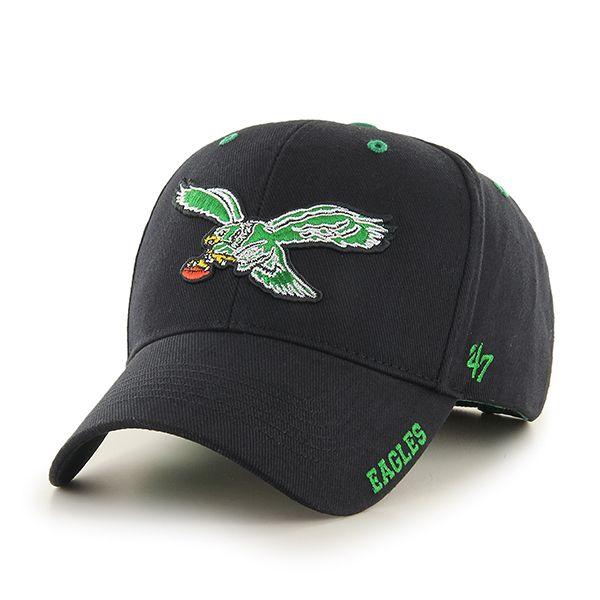 e37eb573f08 Philadelphia Eagles Frost Black 47 Brand Adjustable Hat ...