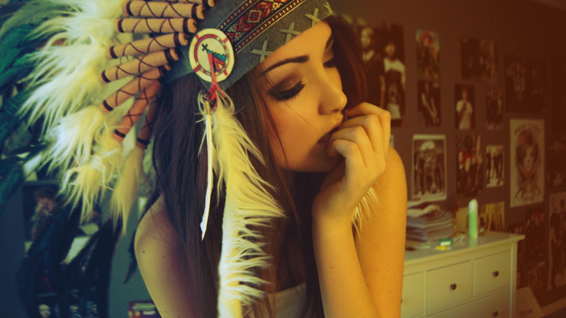 Melanie Iglesias Indian Hat Beauty Model Wallpaper - http ...